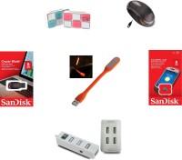 Quantam Laptop/Pc Accessories 6 In 1 Kit Combo Set(Multicolor)