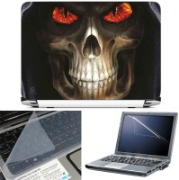 FineArts Grim Reaper Eye Effect 3 in 1 Laptop Skin Pack With Screen Guard & Key Protector Combo Set(Multicolor)