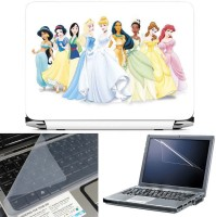 FineArts Disney Princess 3 in 1 Laptop Skin Pack With Screen Guard & Key Protector Combo Set(Multicolor)