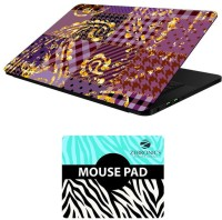 View FineArts Abstract Art - LS5024 Laptop Skin and Mouse Pad Combo Set(Multicolor) Laptop Accessories Price Online(FineArts)