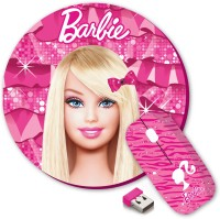 View Barbie Wireless Mouse Combo Set(Pink) Laptop Accessories Price Online(Barbie)