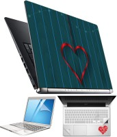 FineArts Heart H072 4 in 1 Laptop Skin Pack with Screen Guard, Key Protector and Palmrest Skin Combo Set(Multicolor)