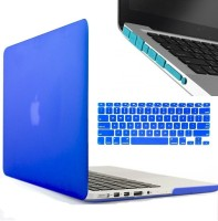 Shrih 13-Inch Rubberized Hard Case, Silicone Keyboard Guard And Anti dust Ports Cover for MacBook Combo Set(Blue)