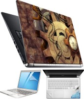 FineArts Antique Watch 4 in 1 Laptop Skin Pack with Screen Guard, Key Protector and Palmrest Skin Combo Set(Multicolor)