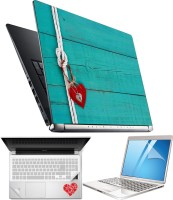 FineArts Heart H08 4 in 1 Laptop Skin Pack with Screen Guard, Key Protector and Palmrest Skin Combo Set(Multicolor)
