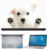 FineArts Puppy 4 in 1 Laptop Skin Pack with Screen Guard, Key Protector and Palmrest Skin Combo Set(Multicolor)