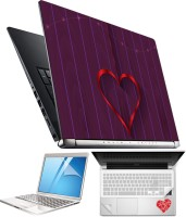 FineArts Heart H074 4 in 1 Laptop Skin Pack with Screen Guard, Key Protector and Palmrest Skin Combo Set(Multicolor)