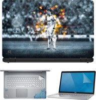FineArts Cristiano Ronaldo 2 4 in 1 Laptop Skin Pack with Screen Guard, Key Protector and Palmrest Skin Combo Set(Multicolor)
