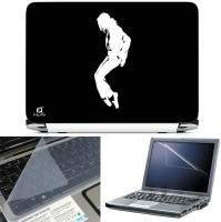FineArts Michael Jackson 3 in 1 Laptop Skin Pack With Screen Guard & Key Protector Combo Set(Multicolor)