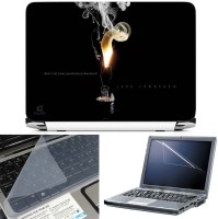 FineArts Don't Let Your Motivation Burnout 3 in 1 Laptop Skin Pack With Screen Guard & Key Protector Combo Set(Multicolor)