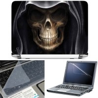 View FineArts Grim Reaper 3 in 1 Laptop Skin Pack With Screen Guard & Key Protector Combo Set(Multicolor) Laptop Accessories Price Online(FineArts)