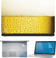 FineArts Beer 4 in 1 Laptop Skin Pack with Screen Guard, Key Protector and Palmrest Skin Combo Set(Multicolor)