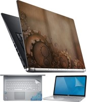 FineArts Gear on Brown 4 in 1 Laptop Skin Pack with Screen Guard, Key Protector and Palmrest Skin Combo Set(Multicolor)