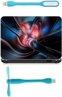 View Print Shapes 3D Heart abstract Combo Set(Multicolor) Laptop Accessories Price Online(Print Shapes)