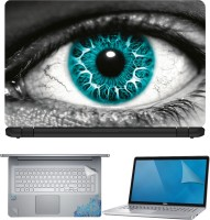 FineArts Abstract Eyes 4 in 1 Laptop Skin Pack with Screen Guard, Key Protector and Palmrest Skin Combo Set(Multicolor)