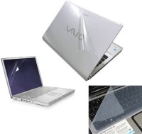 View Creative Art Transparent Skin with Screen Guard and Keyboard Protector Combo Set(Transparent) Laptop Accessories Price Online(Creative Art)