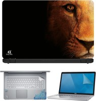 FineArts Lion Face 4 in 1 Laptop Skin Pack with Screen Guard, Key Protector and Palmrest Skin Combo Set(Multicolor)