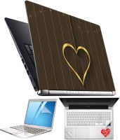 FineArts Heart H076 4 in 1 Laptop Skin Pack with Screen Guard, Key Protector and Palmrest Skin Combo Set(Multicolor)