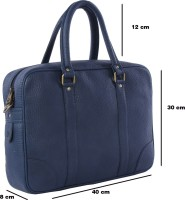 View Walletsnbags 14 inch Laptop Messenger Bag(Blue) Laptop Accessories Price Online(Walletsnbags)