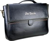 View Da Tasche 14 inch Laptop Messenger Bag(Black) Laptop Accessories Price Online(Da Tasche)