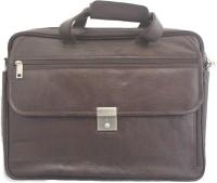 tarana leather art 15 inch Laptop Messenger Bag(Brown)