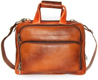 Leather Bags & More... 17 inch Expandable Laptop Messenger Bag(Tan)