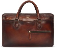 Brune 13 inch Laptop Messenger Bag(Brown)