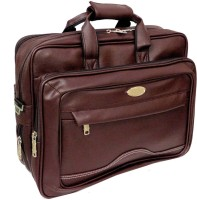 View Ays 15.6 inch Expandable Laptop Messenger Bag(Brown) Laptop Accessories Price Online(Ays)