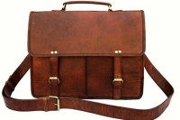 View Goatter 14 inch, 15 inch Laptop Messenger Bag(Brown) Laptop Accessories Price Online(Goatter)