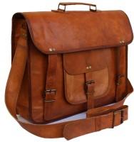 View Goatter 13 inch Laptop Messenger Bag(Brown) Laptop Accessories Price Online(Goatter)