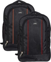 Vape 17 inch Expandable Laptop Backpack(Orange, Red)