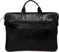 View Leatherworld 16 inch Expandable Laptop Messenger Bag(Black) Laptop Accessories Price Online(Leatherworld)