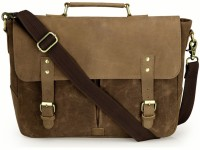 View The House of Tara 15.6 inch Laptop Messenger Bag(Brown) Laptop Accessories Price Online(The House of Tara)