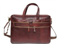 View Leather Bags & More... 15 inch Laptop Messenger Bag(Brown) Laptop Accessories Price Online(Leather Bags & More...)