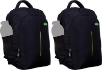View Nl Bags 16 inch Laptop Backpack(Black, Green) Laptop Accessories Price Online(Nl Bags)