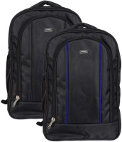 Vape 17 inch Expandable Laptop Backpack(Black, Blue)