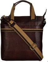 View e-Stores 12 inch Laptop Messenger Bag(Brown) Laptop Accessories Price Online(e-STORES)