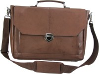 View The House of Tara 16 inch Laptop Messenger Bag(Brown) Laptop Accessories Price Online(The House of Tara)