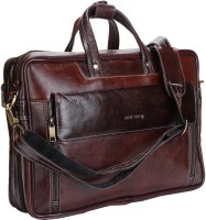 View Hide Stitch 15 inch Laptop Messenger Bag(Brown) Laptop Accessories Price Online(Hide Stitch)