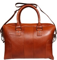 View Leather World 14 inch Laptop Messenger Bag(Tan) Laptop Accessories Price Online(Leather World)