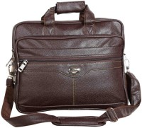 View Goodwin 15.6 inch Laptop Messenger Bag(Brown) Laptop Accessories Price Online(Goodwin)