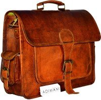 View Adimani 15 inch, 15.6 inch Laptop Messenger Bag(Brown) Laptop Accessories Price Online(Adimani)