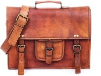 View Goatter 14 inch Laptop Messenger Bag(Brown) Laptop Accessories Price Online(Goatter)