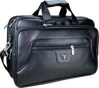 View Da Tasche 15 inch Expandable Laptop Messenger Bag(Black) Laptop Accessories Price Online(Da Tasche)