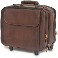 WestHide 15 inch Trolley Laptop Strolley Bag(Brown)