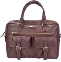 Hidestitch 14 inch Expandable Laptop Messenger Bag(Brown)