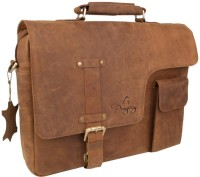 pingooz 13 inch Laptop Messenger Bag(Brown)