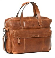 Leather Zentrum 13 inch Laptop Messenger Bag(Tan)