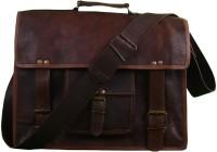 Pranjals House 15 inch Laptop Messenger Bag(Brown)