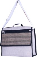 View Jute Tree 15 inch Laptop Messenger Bag(White) Laptop Accessories Price Online(Jute Tree)